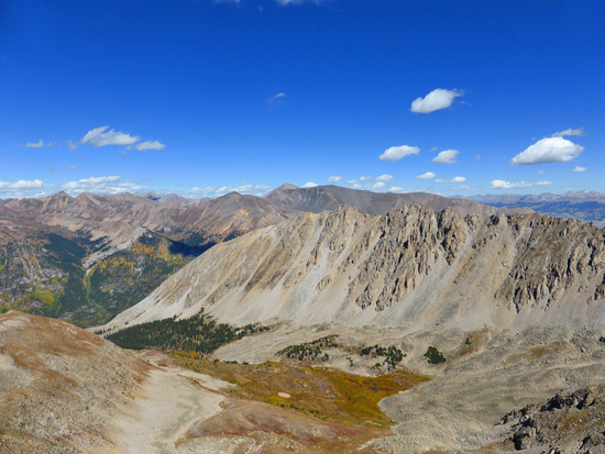 View across La Plata Basin from La Plata Peak